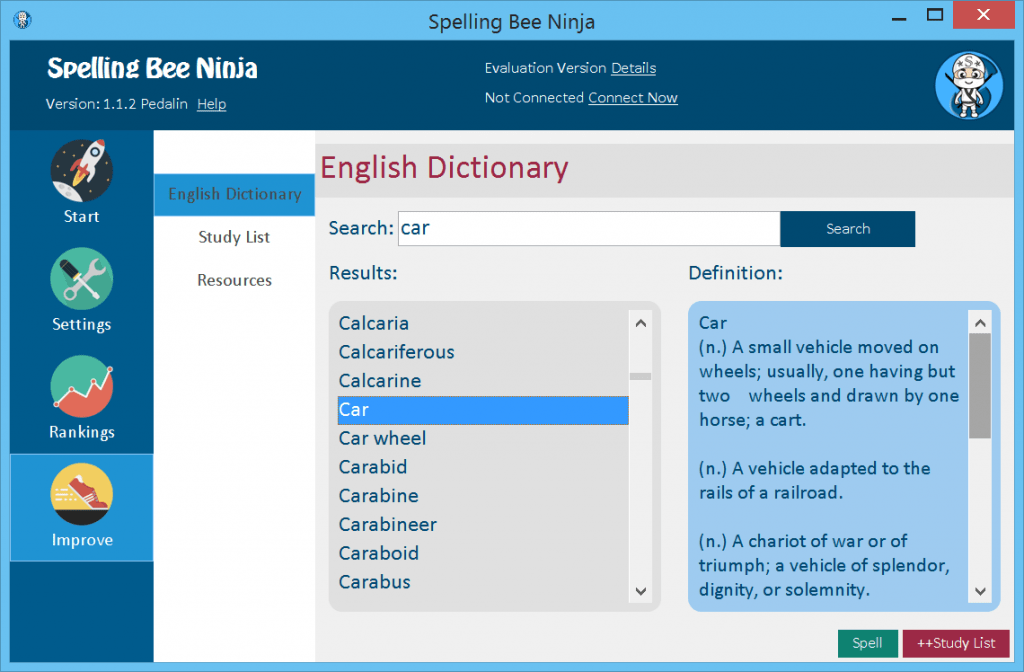 Spelling Bee Interactive English Dictionary