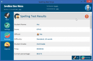 spelling test results 300x197 - Spelling Bee Software - How to Win Spelling Bee