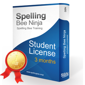 Spelling Bee Training Student 3 months