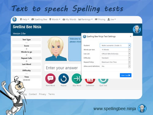 text to speech spelling test - How to Win Spelling Bee