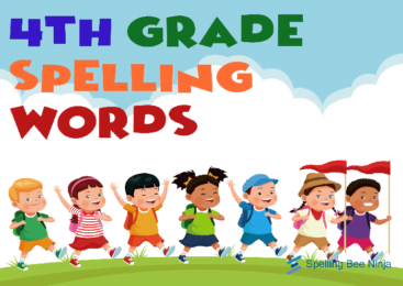 What are the 4th grade Spelling Words ?