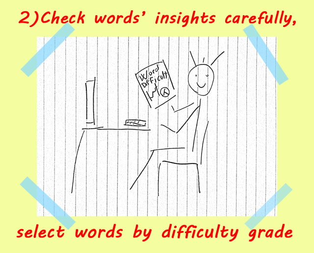 2 analyze words info - How to use Spelling Bee Ninja by pictures