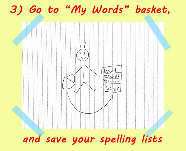 3 create words lists - How to use Spelling Bee Ninja by pictures