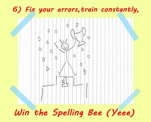 6 train spelling constantly - How to use Spelling Bee Ninja by pictures