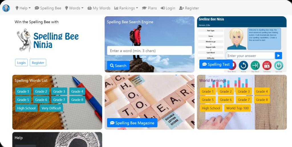 sbn app home 1024x515 - Spelling Bee Ninja 2.0