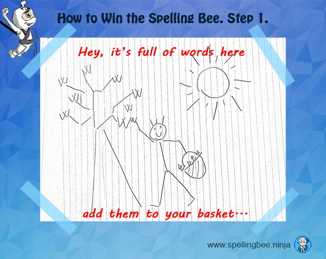 1 search spelling words - How to use Spelling Bee Ninja by pictures