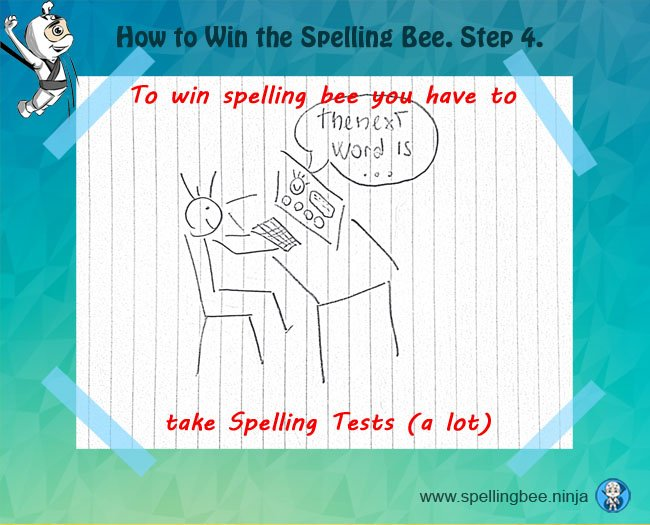 take spelling tests
