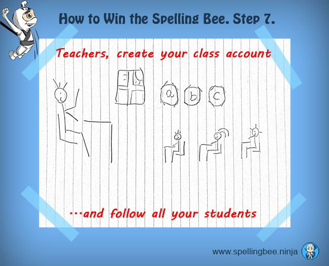handle your spelling class from a teacher account