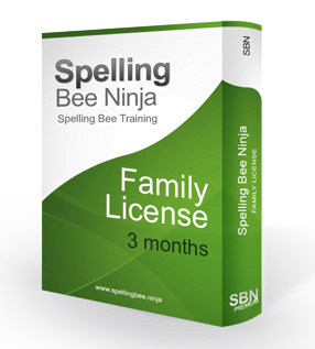 spelling bee family 3 months - Family account 3 months