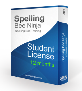 spelling bee student 12 months - Spelling Bee Training Student One year