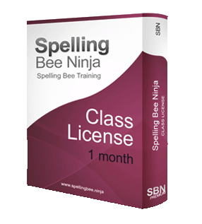spelling bee class 1 month - Spelling Bee Training Class 1 month