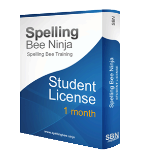 spelling bee student 1 month - Spelling Bee Training Student 1 month