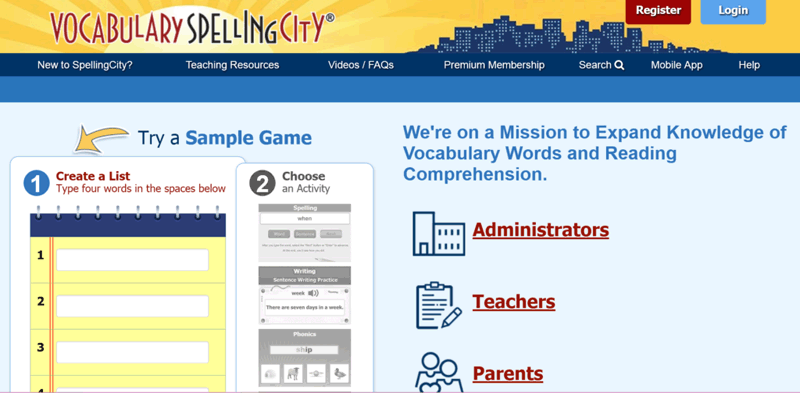 spelling city login