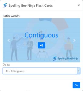 spelling bee flashcards
