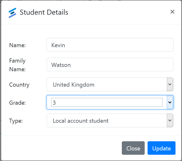 Set student for spell check