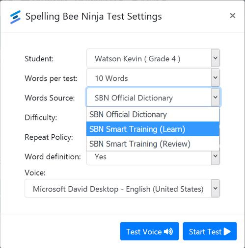 spelling smart trainer