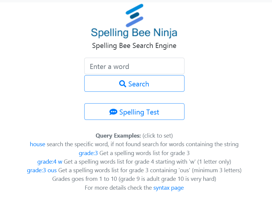 Spelling Words Search
