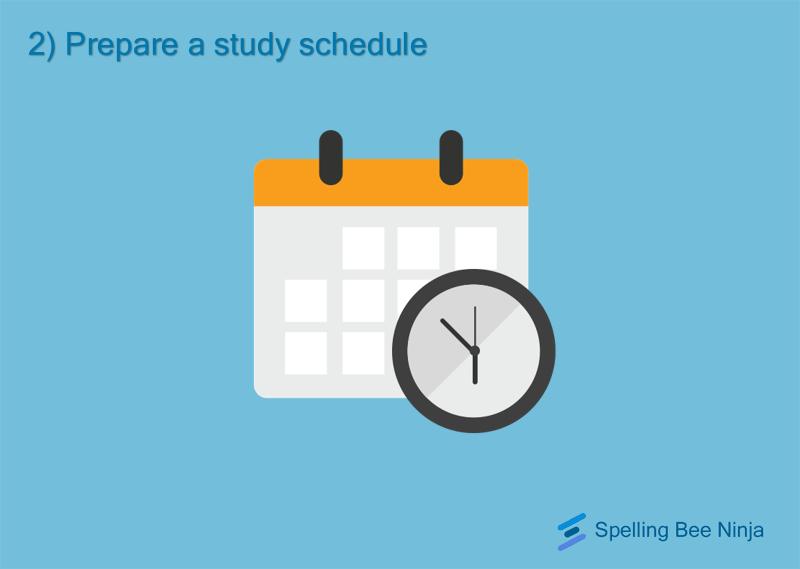 Prepare a study schedule