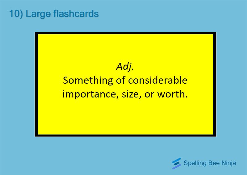 Printing flashcards