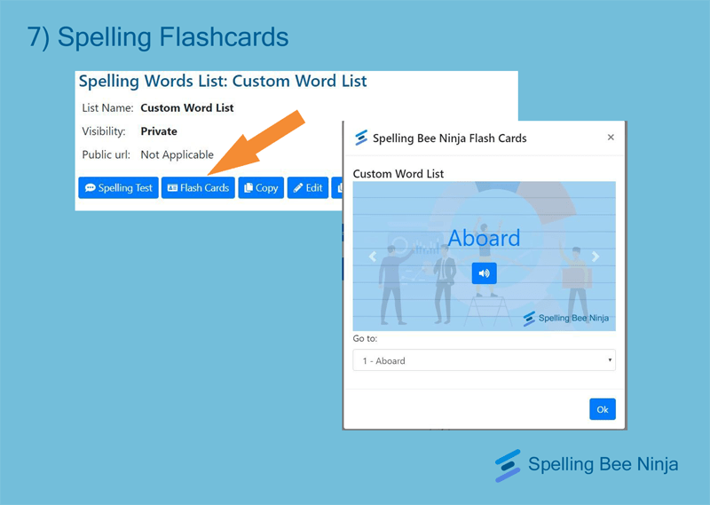 Spelling flashcards
