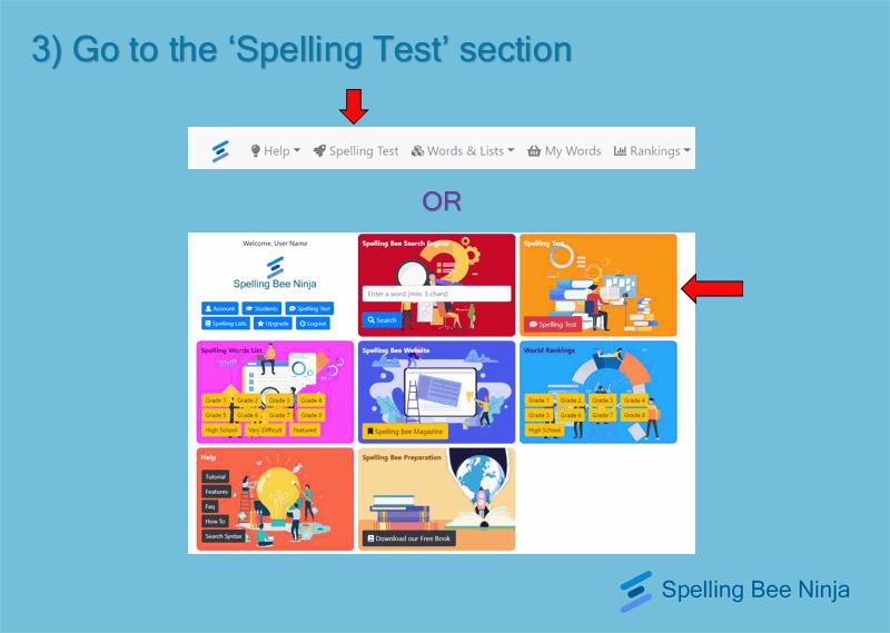 take a spelling quiz