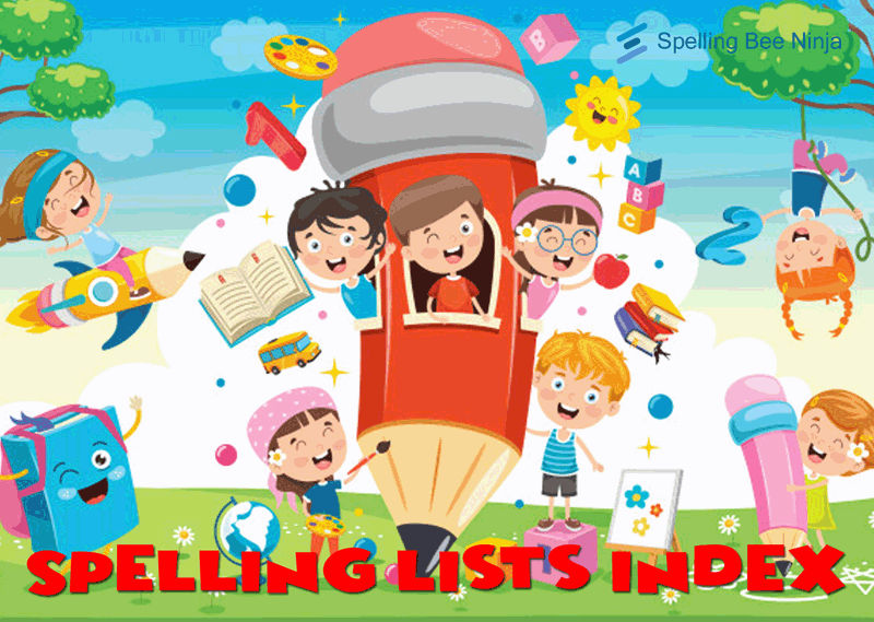 spelling lists index