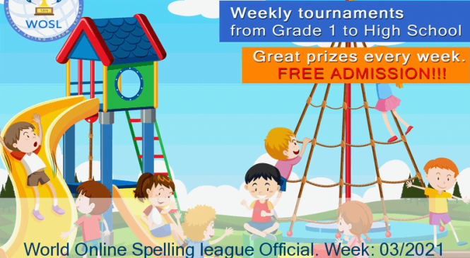 Nitin Sarathy from DAV public school of Samana, India wins the World Online Spelling league Official. Week: 03/2021