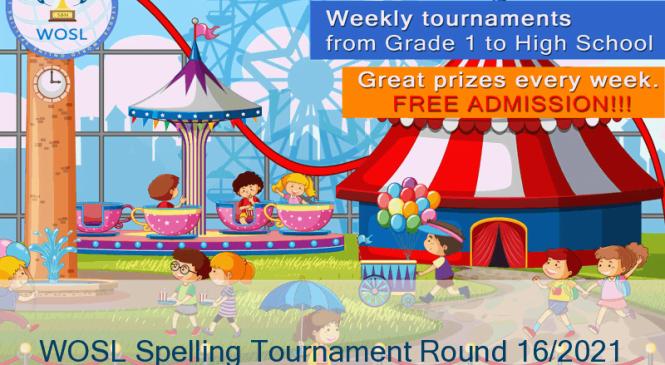 Anwitaa Prabhakaran wins the WOSL Spelling Tournament Round 16/2021