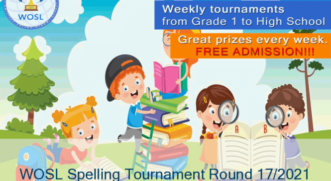 WOSL Spelling Tournament Round 17/2021 final results.
