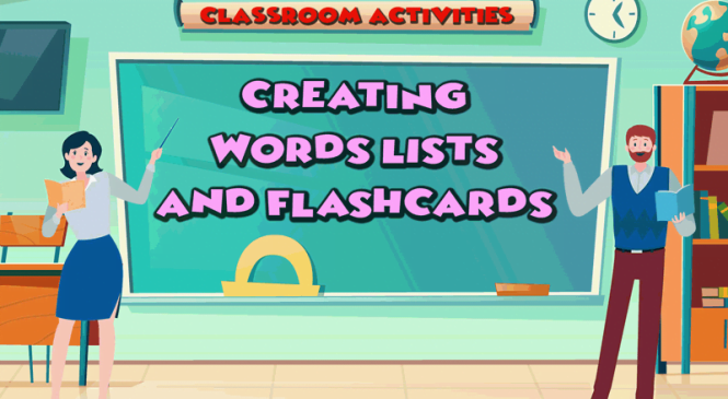 Create and print spelling lists and flash cards