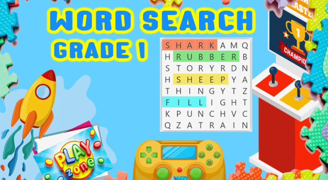 Word Search for grade 1