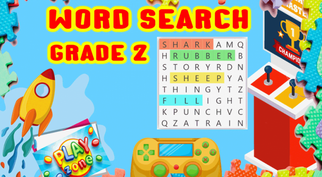 Word Search for grade 2