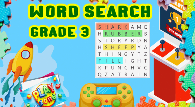 Word Search for grade 3