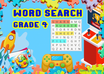 Word Search for grade 4