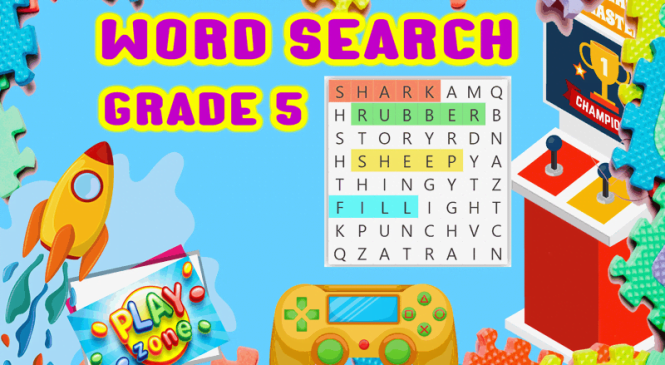 Word Search for grade 5